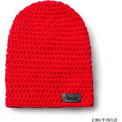 Czapka dziana KRAFF RED handmade. Czerwone czapki zimowe damskie Pakamera, z dzianiny. Za 109,00 zł.