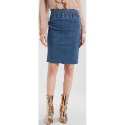Spódniczki jeansowe: 2ndOne SOLANGE Spódnica ołówkowa  raw stone blue