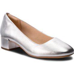 Półbuty CLARKS - Orabella Alice 261349624 Silver Leather. Szare półbuty damskie skórzane Clarks, na obcasie. W wyprzedaży za 279,00 zł.