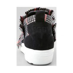 MSGM Półbuty wsuwane black /black white pink tartan. Czarne trampki i tenisówki damskie MSGM, z materiału. W wyprzedaży za 663,60 zł.
