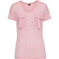 T-shirt bonprix róża herbaciana. Czerwone t-shirty damskie bonprix. Za 29,99 zł.