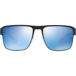 Emporio Armani - Okulary. Brązowe okulary przeciwsłoneczne męskie aviatory Emporio Armani, z materiału. Za 629,90 zł.