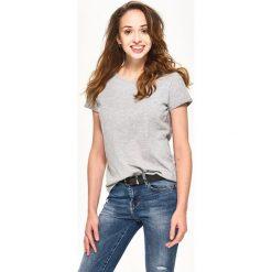 Gładki t-shirt - Jasny szar - 2