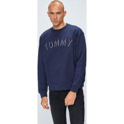 Tommy Jeans - Bluza. Czarne bluzy męskie rozpinane marki Tommy Jeans, l, z aplikacjami, z bawełny, bez kaptura. W wyprzedaży za 319,90 zł.