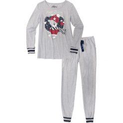 Piżamy damskie: Piżama bonprix jasnoszary melanż z nadrukiem