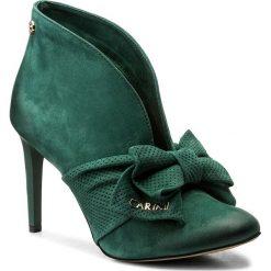 Szpilki CARINII - B4122 I64-000-000-A92. Zielone buty zimowe damskie marki Carinii, z nubiku, na obcasie. W wyprzedaży za 199,00 zł.