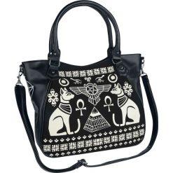 Banned Alternative Anubis Torebka - Handbag czarny/biały. Białe torebki klasyczne damskie Banned Alternative, z nadrukiem, małe, z nadrukiem. Za 164,90 zł.