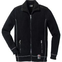 """Kardigany męskie: Sweter rozpinany outdoorowy """"Slim Fit"""" bonprix czarny"""