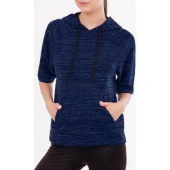 Damskie bluza sportowa MF Blue. Czarne bluzy sportowe damskie marki Cardio Bunny, s, z nadrukiem, z bawełny, bez kaptura. Za 110,99 zł.