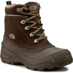 Buty zimowe chłopięce: Śniegowce THE NORTH FACE – Youth Chilkat Lace II T92T5RRE2 Demitasse Brown/Cub Brown