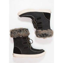 Roxy RAINIER Botki sznurowane black. Czarne buty zimowe damskie Roxy, z materiału, na sznurówki. W wyprzedaży za 356,85 zł.