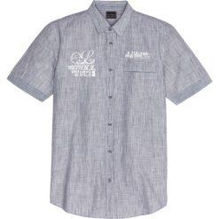 Koszula z krótkim rękawem bonprix czarny w paski. Czarne koszule męskie na spinki bonprix, m, w paski, z krótkim rękawem. Za 37,99 zł.