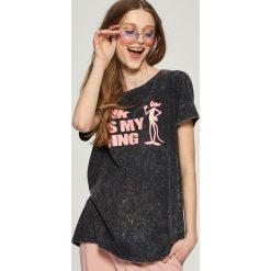 T-shirty damskie: T-shirt pink panther – Szary