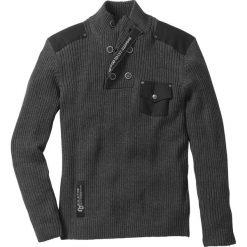 """Swetry klasyczne męskie: Sweter """"Slim fit"""" bonprix antracytowy melanż"""