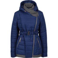 Zimowy krótki płaszcz bonprix kobaltowy. Niebieskie płaszcze damskie pastelowe bonprix, na zimę, w paski. Za 239,99 zł.