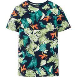 T-shirty męskie z nadrukiem: T-shirt Slim Fit bonprix ciemnoniebieski z nadrukiem