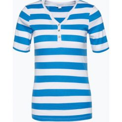 Brookshire - T-shirt damski, czarny. Czarne t-shirty damskie brookshire, s, w paski, z bawełny, z kołnierzem typu henley. Za 69,95 zł.