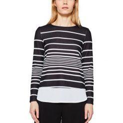 Bluzki asymetryczne: Koszulka z okrągłym wycięciem szyi i długim rękawem
