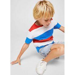 Mango Kids - T-shirt dziecięcy Raya 104-164 cm. Różowe t-shirty chłopięce Mango Kids, z bawełny, z okrągłym kołnierzem. Za 29,90 zł.