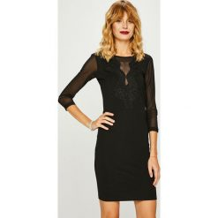 Medicine - Sukienka Shimmering Fantasy. Czarne sukienki balowe marki bonprix, do pracy, w paski, z krótkim rękawem, mini, baskinki. Za 119,90 zł.