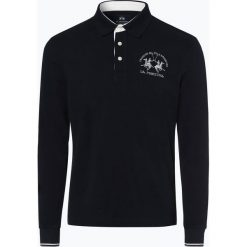 La Martina - Męska koszulka polo, niebieski. Niebieskie koszulki polo La Martina, l, z dżerseju. Za 599,95 zł.