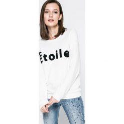 Vero Moda - Bluza. Szare bluzy z nadrukiem damskie Vero Moda, m, z bawełny, bez kaptura. W wyprzedaży za 89,90 zł.