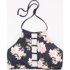 Bikini: Góra od bikini w kwiaty – Czarny