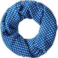 Szaliki damskie: Szal-koło w kolorze niebiesko-białym – 100 x 180 cm