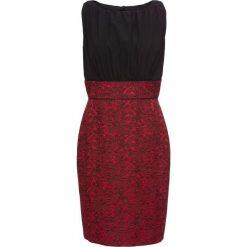 Sukienki hiszpanki: Sukienka bonprix czarno-czerwony