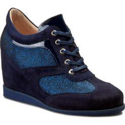 Sneakersy OLEKSY - 2112/859/B17/583/000 Zamsz Ciemny Granat. Szare sneakersy damskie marki Oleksy, ze skóry. W wyprzedaży za 269,00 zł.