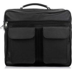 TORBA MĘSKA NA RAMIĘ I DO RĘKI ABRUZZO. Czarne torby na ramię męskie Abruzzo, w paski, ze skóry, do ręki. Za 159,00 zł.
