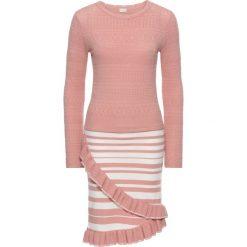 Sukienki: Sukienka bonprix jasnoróżowo-biały