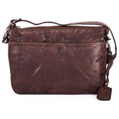 Torebki klasyczne damskie: Skórzana torebka w kolorze brązowym – 24 x 17 x 6 cm