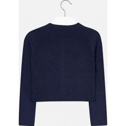 Mayoral - Sweter dziecięcy 140-167 cm. Niebieskie swetry dziewczęce marki Mayoral, z bawełny. W wyprzedaży za 69,90 zł.