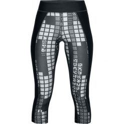 Spodnie damskie: Under Armour Legginsy damskie HG Print Armour Capri czarne r. L (1310667-017)