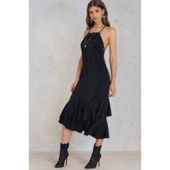 Sukienki: NA-KD Trend Sukienka maxi z koronką i wiązaniem z tyłu - Black