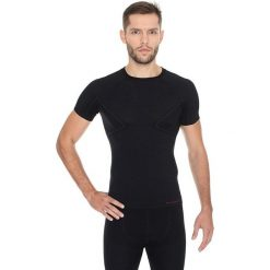 Brubeck Koszulka męska z krótkim rękawem ACTIVE WOOL czarny r. XL (SS11710). Czarne koszulki sportowe męskie marki Brubeck, m. Za 108,99 zł.