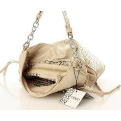 Stylowa torebka sakiewka beżowy. Brązowe torebki worki marki Nobo, ze skóry ekologicznej. Za 140,00 zł.