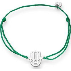Bransoletki damskie: Bransoletka w kolorze zielono-srebrnym ze srebrnym elementem ozdobnym