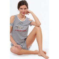 Etam - Top piżamowy Joris. Niebieskie piżamy damskie marki Etam, l, z bawełny. W wyprzedaży za 39,90 zł.