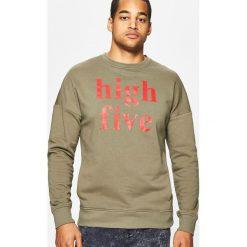 Bluzy męskie: Bluza z nadrukowanym napisem - Zielony