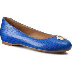 Baleriny ARMANI JEANS - A55E7 39 88 Blu Royal. Niebieskie baleriny damskie lakierowane Armani Jeans, z jeansu, na płaskiej podeszwie. W wyprzedaży za 299,00 zł.