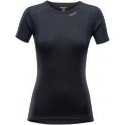 Devold Koszulka Damska Hiking Woman T-Shirt Black L. Czarne bluzki sportowe damskie Devold, l, z wełny, z krótkim rękawem. Za 239,00 zł.