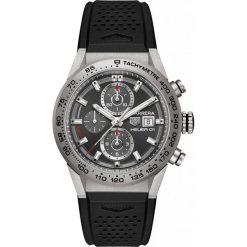 ZEGAREK TAG HEUER CARRERA CAR208Z.FT6046. Szare zegarki męskie marki TAG HEUER, szklane. Za 22270,00 zł.
