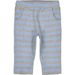 Spodnie w paski, 1 mies. - 3 lata. Niebieskie spodnie dresowe dziewczęce marki La Redoute Collections, w paski, z bawełny. Za 41,12 zł.