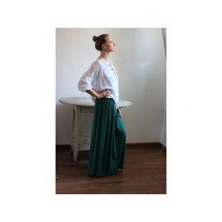 Długa zwiewna spódnica zieleń butelkowa. Zielone długie spódnice Szarymary, na lato, l, z gumy. Za 119,00 zł.