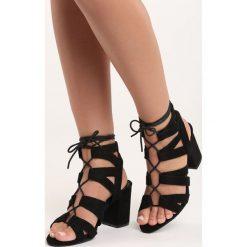 Rzymianki damskie: Czarne Sandały Birta