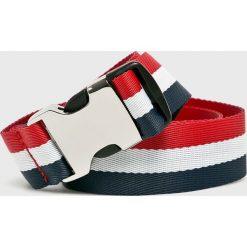 Tommy Jeans - Pasek. Szare paski damskie marki Tommy Jeans, w paski, z jeansu. Za 179,90 zł.