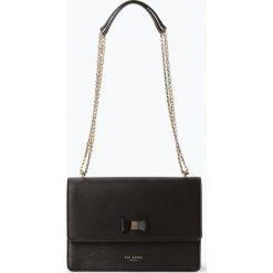 Ted Baker - Damska torba na ramię ze skóry – Delila, czarny. Czarne torebki klasyczne damskie marki Ted Baker, z materiału. Za 719,95 zł.