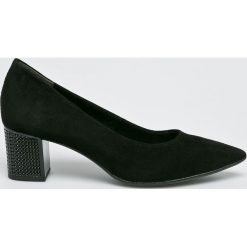 Tamaris - Czółenka. Szare buty ślubne damskie marki Tamaris, z materiału, na sznurówki. W wyprzedaży za 219,90 zł.